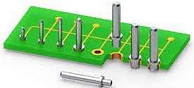 fixação de PCB num compartimento
